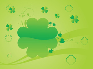 Green Shamrock Curve Background 17 March