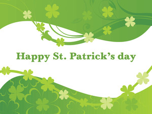 Green Shamrock Flower Background 17 March