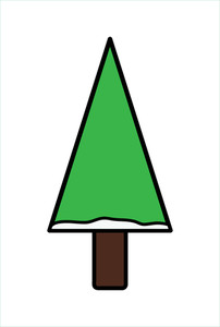 Green Shape Christmas Tree