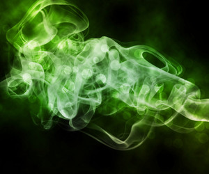Green Smoke Abstract Background