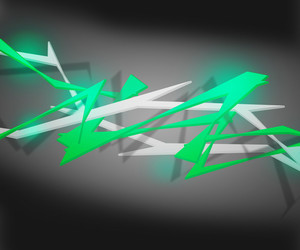 Green Spiky Abstract Background