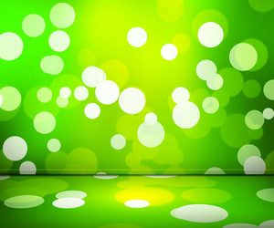 Green Spotlight Abstract Background