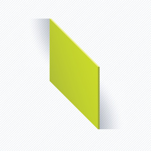 Green Square With Paradox Shadow. Vector Abstract.