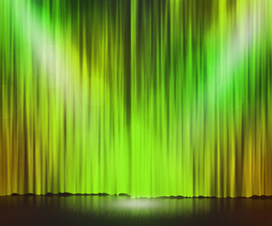 Green Stage Spotlight Background