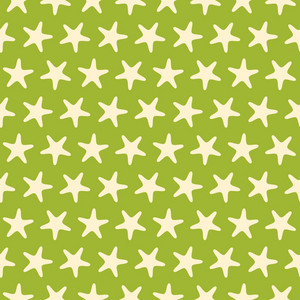 Green Starfish Beach Pattern