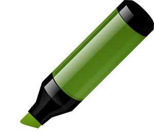 Green Thick Marker