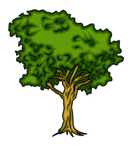 Green Tree Vector Design