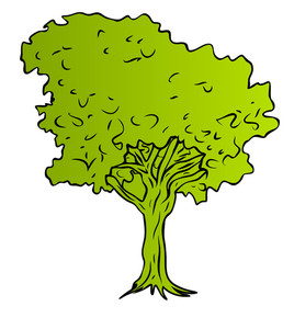 Green Tree Vector Shape