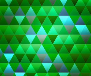 Green Triangles Background