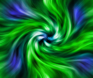 Green Twisted Abstract Background