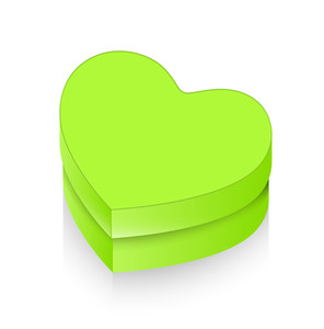 Green Valentine Heart Box