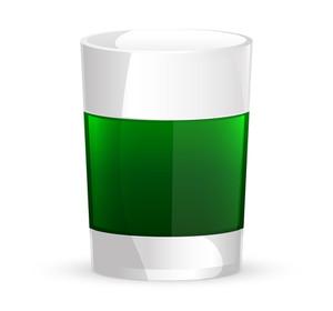 Green Vector Beer Glass