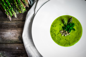 Green Vegetable Cream Soup