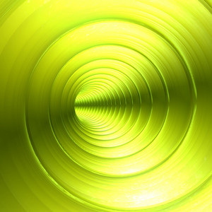 Green Vortex Abstract Background With Twirling Twisting Spiral