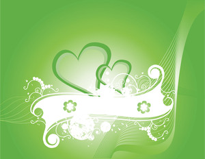 Green Wallpaper In Heart Concept