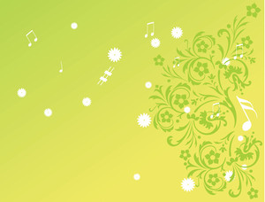 Green Wallpaper Of Florishes Background