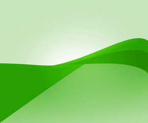 Green Wave Abstract Shapes Background