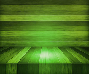 Green Wooden Stage Background