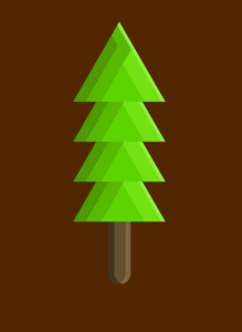 Green Xmas Tree Shape