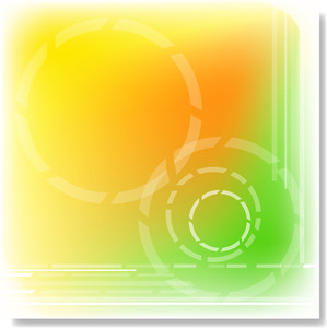 Green Yellow Abstract Circular Designed - Vector Background