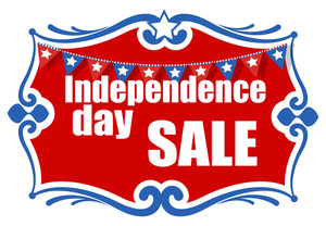 Greeting And Sale Banner 4th Of July Vector Illustration