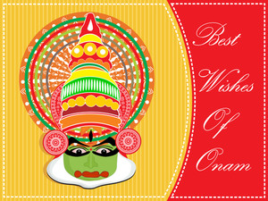 Greeting Carad For Onam Celebration