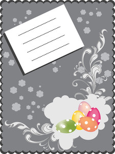 Greeting Card For Easter Celebration