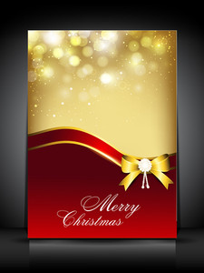Greeting Card For Merry Christmas Celebration.