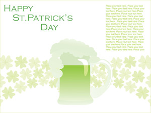 Greeting Card Illustration With Shamrock 17 March