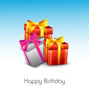 Grußkarte oder Hintergrund für die Geburtstags-Feier