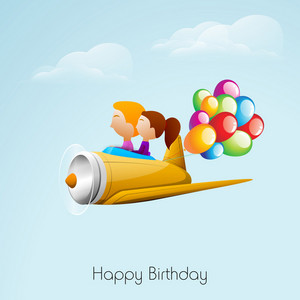Greeting Card Or Background For Birthday Celebration