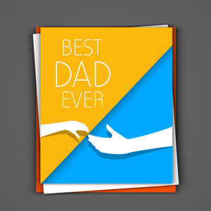 Greeting Card Or Gift Card For Happy Fathers Day