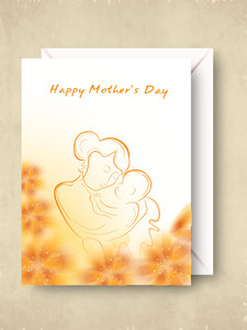 Greeting Card Or Gift Card With Envelope For Happy Mother's Day