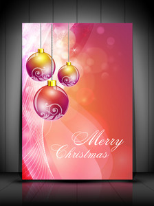 Greeting Or Gift Card With Snowflakes