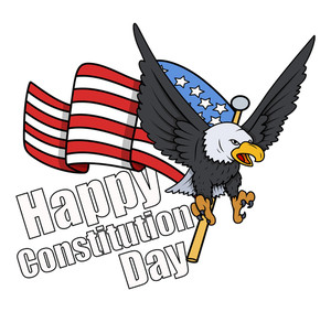 Greeting Style  Constitution Day Vector Illustration