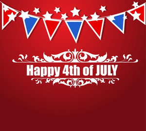 Greeting Us 4th Of July Independence Day Vector Design