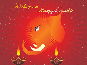 Gretting Card For Diwali Celebration