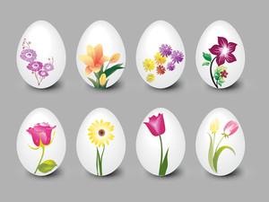 Grey Background With Easter Egg Illustration