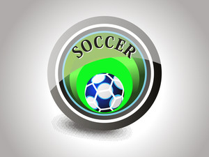 Grey Background With Isolated Soccer