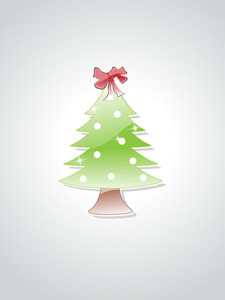 Grey Background With Isolated Tree