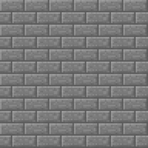 Grey Brick Minecraft Pattern