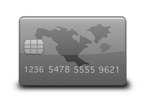 Grey Credit Card