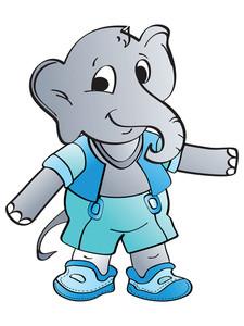 Grey Elephant Illustration