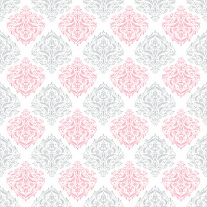 Grey, Pink, And White Decorative Pattern