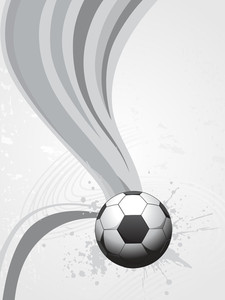 Grey Stripes Background With Ball