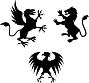 Griffin Lion Silhouette