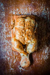 Grilled Chicken On Wooden Background
