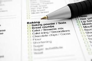 Grocery List - Baking