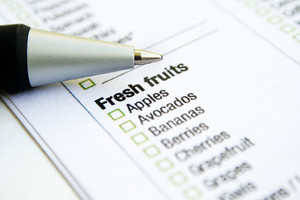 Grocery List - Fresh Fruits