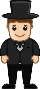 Groom Cartoon Vector Character